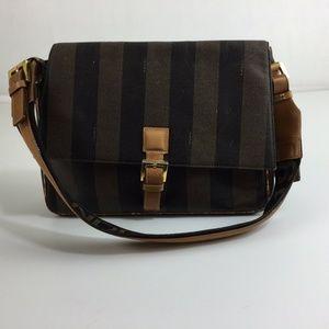 Fendi S.A.S Vintage Purse Shoulder Hand Bag Stripe
